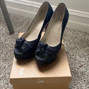 Authentic Louis Vuitton black pumps